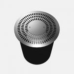 Circular floor diffuser