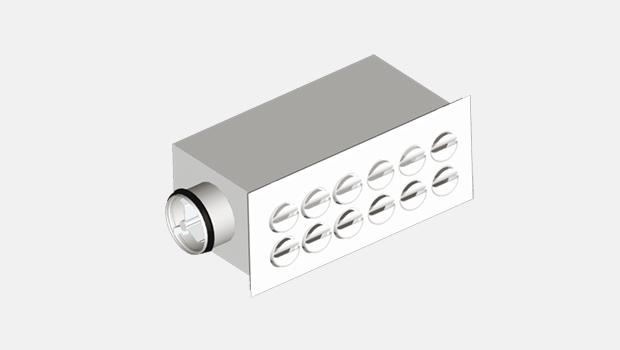 nozzle diffuser wall unit