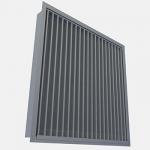 External louvre for air intake Halton USL