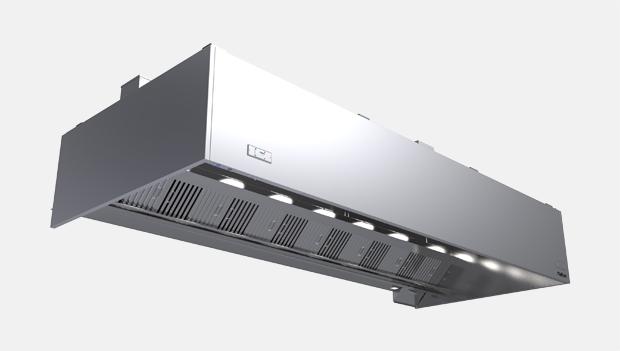 Halton Capture Ray KVE-UV Kitchen Exhaust Hood with UV